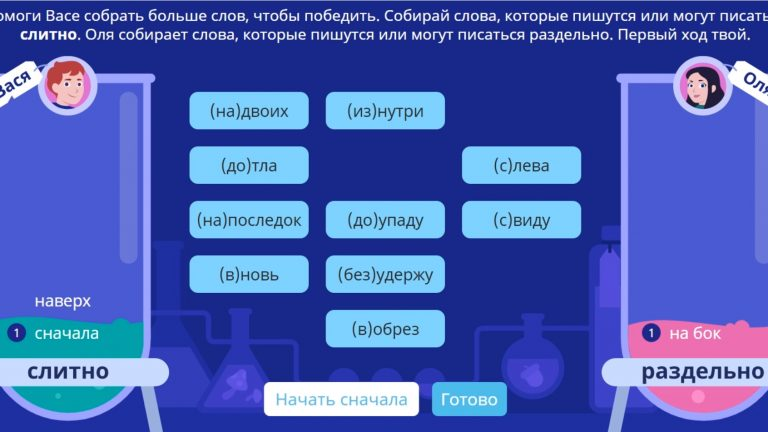Слитно олимпиада Русский язык